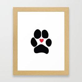 Dog Paw Framed Art Print