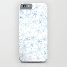 Flowers in light blue pattern iPhone 6s Slim Case