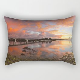 Greenhithe Upper Harbour Bridge Sunset in Auckland Rectangular Pillow