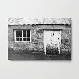 Lucky Scottish Door Metal Print