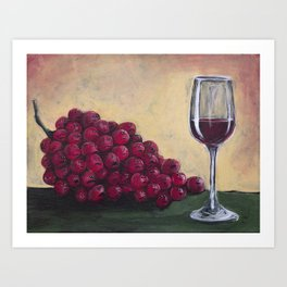 Aghast Grapes Art Print