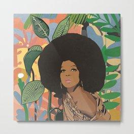 Afro woman  Metal Print