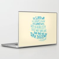 nietzsche Laptop & iPad Skins featuring Corrupt A Youth by Josh LaFayette