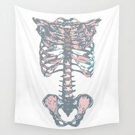Colorful Rib Cage I Wall Tapestry