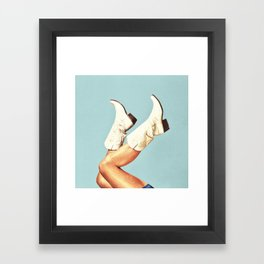 These Boots - Blue Framed Art Print