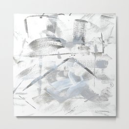 Shades of Gray on White Paper Metal Print