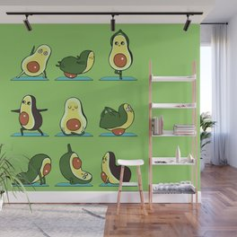 Avocado Yoga Wall Mural