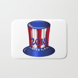 Uncle Sam 2018 Flag Hat Bath Mat
