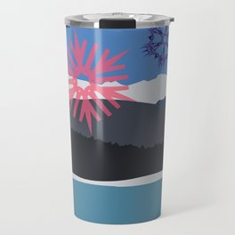 Winter Rampart with Multicolored Snowflakes Travel Mug