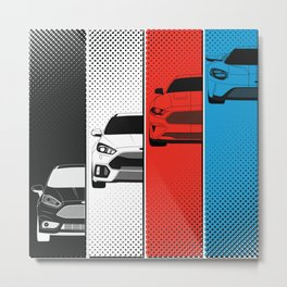 Fast Fords Metal Print