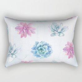Two colors cactus pattern Rectangular Pillow