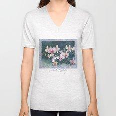 Orchid Melody Unisex V-Neck