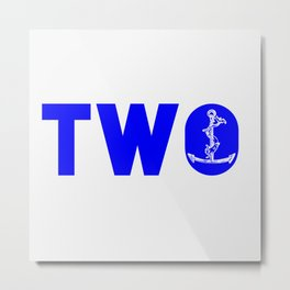2 Anchors Metal Print