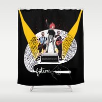 future Shower Curtains featuring Future by Adora Chloe