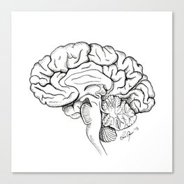 Brain in Ink Canvas Print