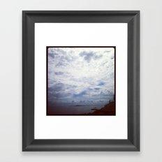 The Ocean is in the Back Framed Art Print