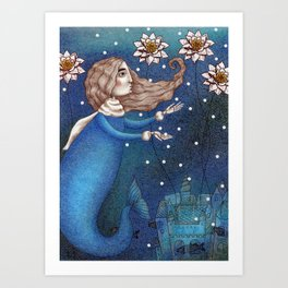 The Mermaid's Lake--The Underwater Palace Art Print