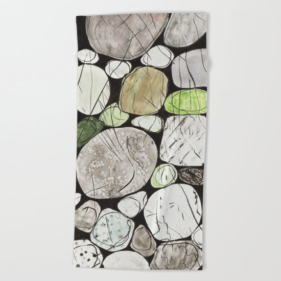 Classical Stones Pattern in High Format Beach Towel