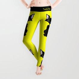 Black Cat - Lemon Yellow Leggings