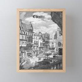 retro monochrome Chester Framed Mini Art Print