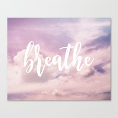 MANTRA SERIES: Breathe Canvas Print