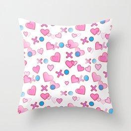 Love Hugs And Kisses Throw Pillow