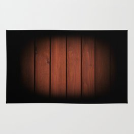 Brown dark boards texture Rug