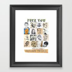 Status Update. Framed Art Print