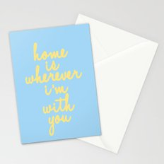 Home Is Wherever I'm With You Stationery Cards