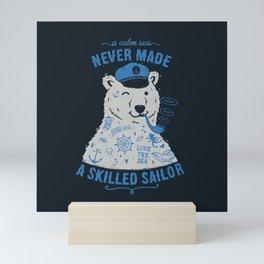 Sailor Tattooed Bear Mini Art Print