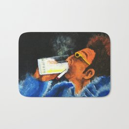 """HERE'S TO FEELIN' GOOD ALL THE TIME"" Bath Mat"
