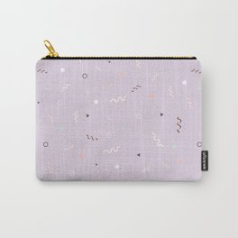 Messy Pattern_Lilac version Carry-All Pouch