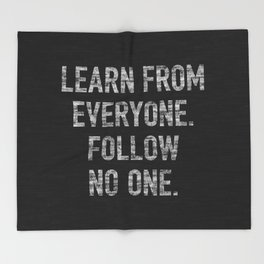 Learn from Everyone Throw Blanket