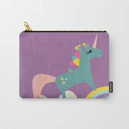 unicorn and rainbow purple Carry-All Pouch