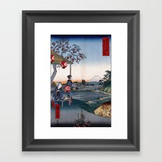The Teahouse with the View of Mt. Fuji at Zōshigaya Framed Art Print