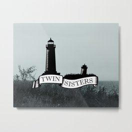 Twin Sisters Metal Print