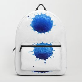 Watercolor splashes. Colorful watercolor blots. Backpack