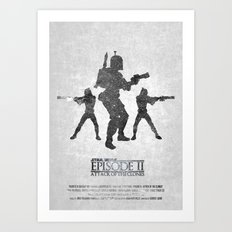 STAR WARS - Attack of the Clones (with Background) Art Print