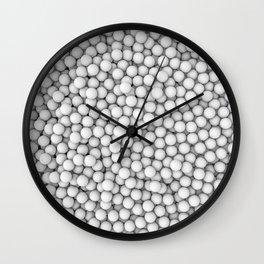 Golf balls Wall Clock