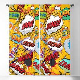 Comic Book Pop Art Explosions Blackout Curtain
