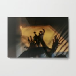 Strange hands in dark and light, parts of body, dancers, fingers Metal Print