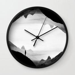 black wasteland isolation Wall Clock