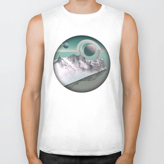 celestial horizon Biker Tank