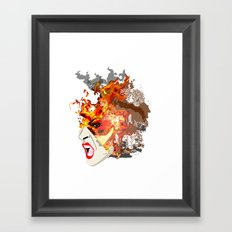 Fire- from World Elements Series Framed Art Print