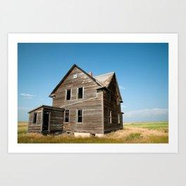 Saskatchewan Farm House Art Print