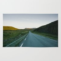 road Area & Throw Rugs featuring Road by A. Serdyuk
