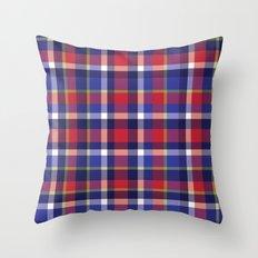 Preppy Plaid Throw Pillow