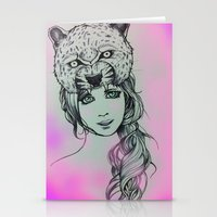 girly Stationery Cards featuring Girly by alexxela