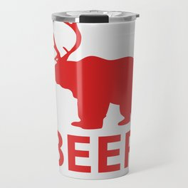 Bear + Deer = Beer Travel Mug