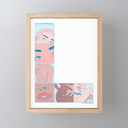 """""""I Can't Stop Thinking About..."""" inspired by The L Word Framed Mini Art Print"""